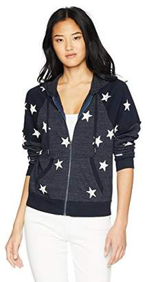 Splendid Women's Star Zip Sweatshirt