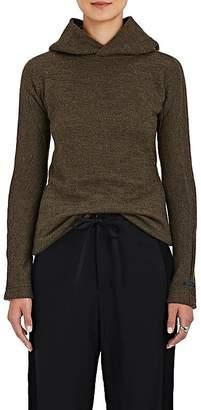 Yohji Yamamoto Regulation Women's Knit Fuzzy Hoodie