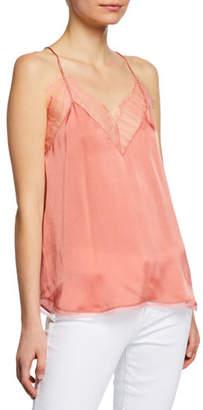 IRO Berwyn Silk Cami with Lace Trim