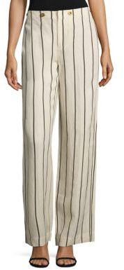 Polo Ralph Lauren Striped Wide-Leg Pants $245 thestylecure.com