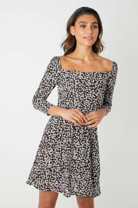 619be6eb112 Square Neck Long Sleeve Dress - ShopStyle UK