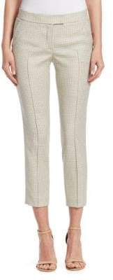 Akris Punto Women's Micro-Check Pants - Beige - Size 12