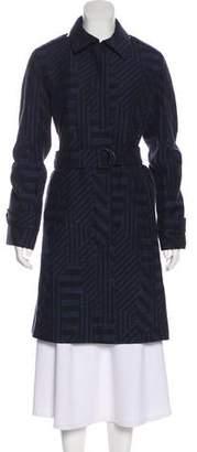 Akris Punto Chevron Knee-Length Coat