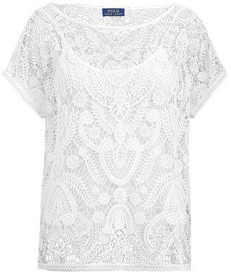 Polo Ralph Lauren Lace Short-Sleeve Shirt $198 thestylecure.com
