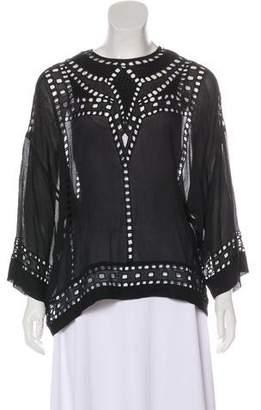 Etoile Isabel Marant Cutout Long Sleeve Blouse