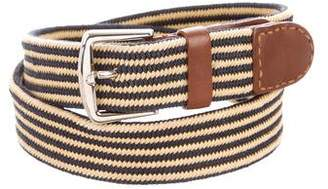 Loro Piana Woven Buckle Belt