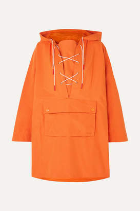 Barbour + Alexachung Pip Lace-up Waxed-canvas Jacket - Orange