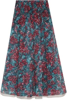 Lily Brown (リリー ブラウン) - リリーブラウン ステンドガラス柄ロングスカート