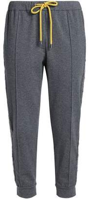 Brunello Cucinelli Cropped French Stretch-Cotton Terry Track Pants
