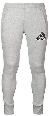 adidas Mens Taper Logo Fleece Jogging Bottoms Training Running Elastic Trousers