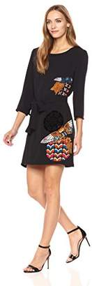 Desigual Women's Brad Woman Woven 3/4 Sleeve Dress