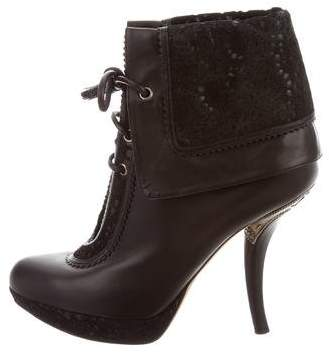 Christian Dior Laser Cut Ankle Boots
