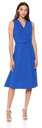Calvin Klein Women's Sleeveless Belted Fit and Flare Dress