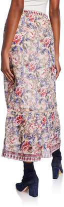 Raga Victoria Floral Tassel-Tie Maxi Skirt