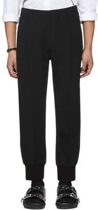 Alexander McQueen Black Crepe Sport Lounge Pants