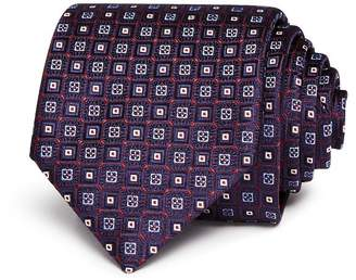 Canali Neat Squares Silk Classic Tie - 100% Exclusive