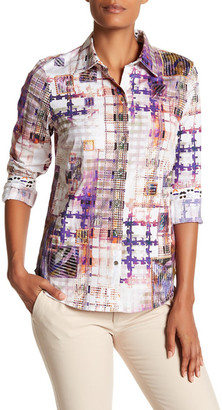 Robert Graham Honora Embroidered Print Woven Shirt $298 thestylecure.com
