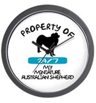 "Mini A Ture CafePress - Miniature Australian Shepherd - Unique Decorative 10"" Wall Clock"