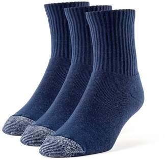 Galiva Men's Cotton Extra Soft Quarter Cushion Socks - 3 Pairs