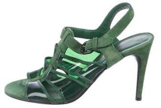 Bottega Veneta Suede PVC-Accented Sandals