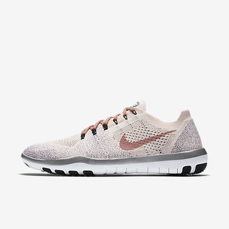 Nike Free Focus Flyknit 2 Chrome Blush Women's Training Shoe $120 thestylecure.com