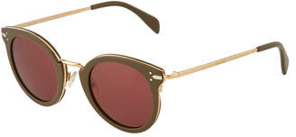 Celine Oversized Round Acetate/Metal Sunglasses