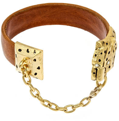 Cynthia H. Calf and Leopard Bracelet