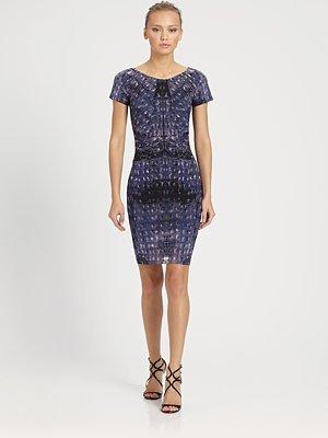 Roberto Cavalli Croc Print Dress