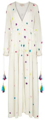 Rococo Sand Stellar Sequin-embellished Silk Maxi Dress