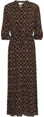 A.L.C. Raelyn Printed Silk Crepe De Chine Midi Dress