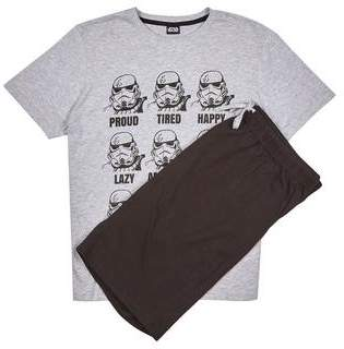Burton Mens Grey Storm Trooper Pyjama Set