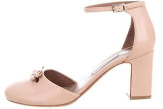 Tabitha Simmons Bow-Accented Ankle Straps Sandals Pink Bow-Accented Ankle Straps Sandals