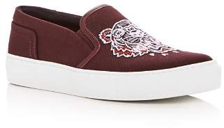 Kenzo Women's Main Tiger Embroidered Slip-On Sneakers