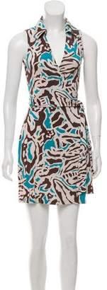 Diane von Furstenberg Sleeveless Printed Wrap Dress