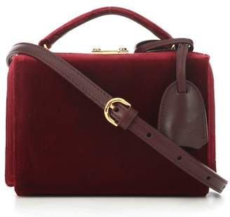 Mark Cross Grace Mini Box velvet shoulder bag