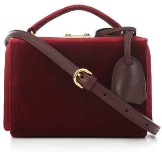 Mark Cross Grace Mini Box velvet shoulder bag