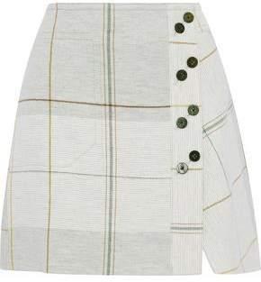 Derek Lam 10 Crosby Checked Gauze Mini Skirt