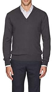 Barneys New York Men's Cashmere V-Neck Sweater - Gray
