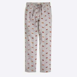 J.Crew Flannel pajama pant with dog print