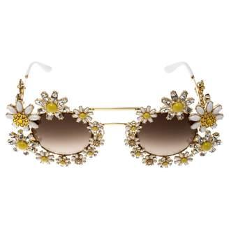 Dolce & Gabbana Brown Metal Sunglasses