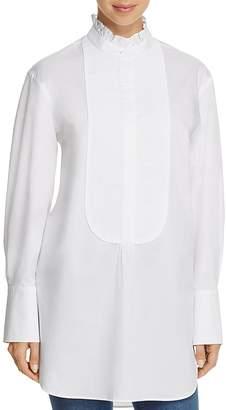 Burberry Finch Ruffle Neck Tuxedo Shirt - 100% Exclusive