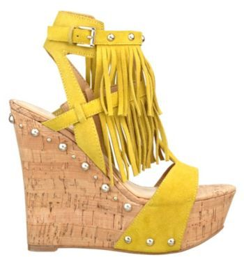 GUESS Meekah Fringed Wedge Sandals