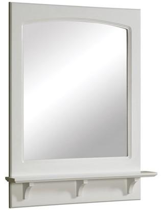 "Design House 539916 Concord Mirror with Shelf 24"", White"