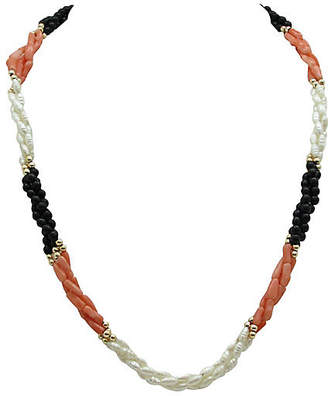 One Kings Lane Vintage Pearl & Coral Torsade Necklace