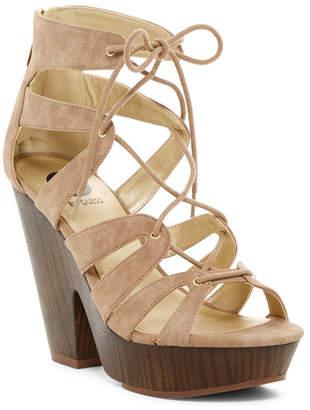 G by GUESS Shelton Platform Sandal $59 thestylecure.com
