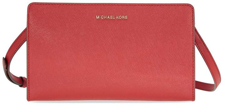 Michael Kors Jet Set Large Crossbody Clutch - Burnt Red - ONE COLOR - STYLE