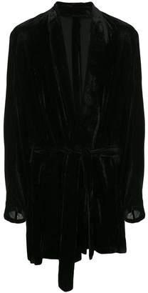 Ann Demeulemeester long corduroy robe jacket