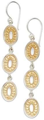 Anna Beck Open Oval Triple Drop Earrings