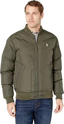 U.S. Polo Assn. Men's Quilted Recon Chevron Bomber Jacket
