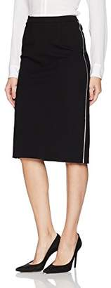 Ellen Tracy Women's Pencil Skirt with Contrast Piping Detail